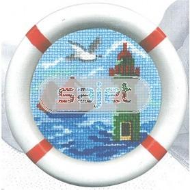 borduurpakket maritiem, vuurtoren (incl. lijst)
