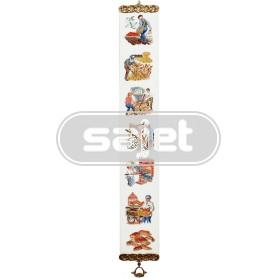 borduurpakket bellekoord, boer, bakker, bolletje