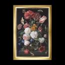 borduurpakket jan davidsz, stilleven, bloemen in glazen vaas op zwart