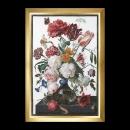 borduurpakket jan davidsz, stilleven, bloemen in glazen vaas
