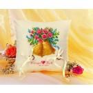 borduurpakket trouwringkussen, klokken (wit)