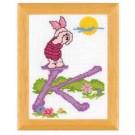 borduurpakket winnie de pooh, letter K