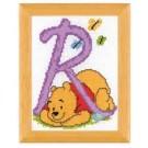 borduurpakket winnie de pooh, letter R
