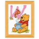 borduurpakket winnie de pooh, letter W
