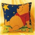 kruissteekkussen winnie de pooh, onder sterrenhemel