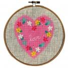 borduurpakket hart met bloemen (incl. borduurring)