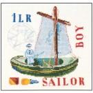 borduurpakket zeilboot, groen
