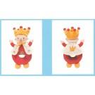 borduurrammelaar pim-pam-pom, kleine koning