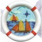 borduurpakket maritiem, zeilboten (incl. lijst)