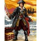 stramien + garenpakket, piraat in actie