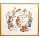 borduurpakket cristl vogl, berenboek, geboorte, a.b.c.