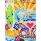 borduurpakket hippie style, collage met vw bus
