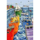 borduurpakket gekleurde vloot