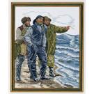 borduurpakket drie vissers